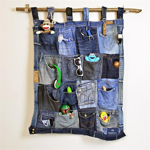 Painel organizador feito de jeans 005