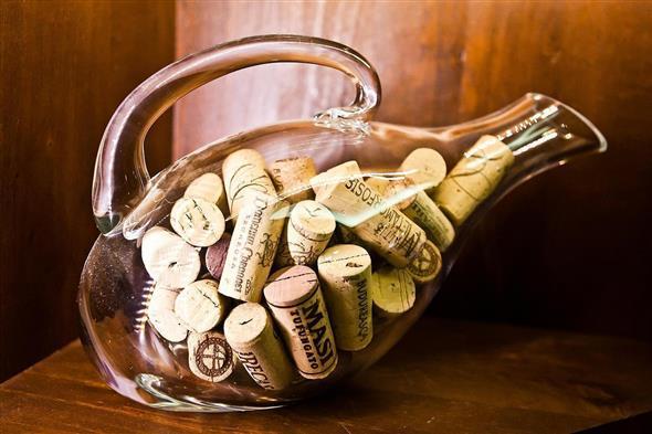 decoração com garrafas 001