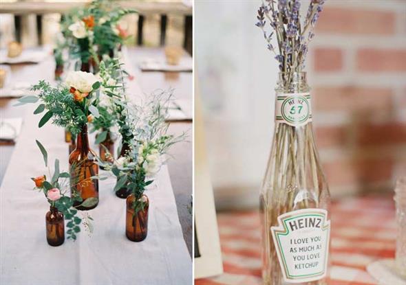 decoração com garrafas 010