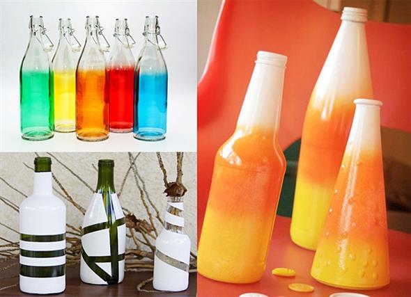 decoração com garrafas 012