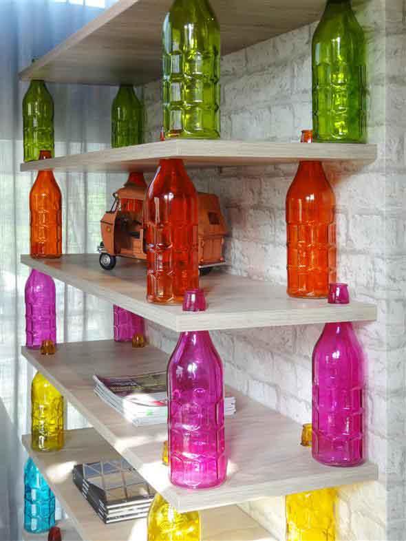 decoração com garrafas 014