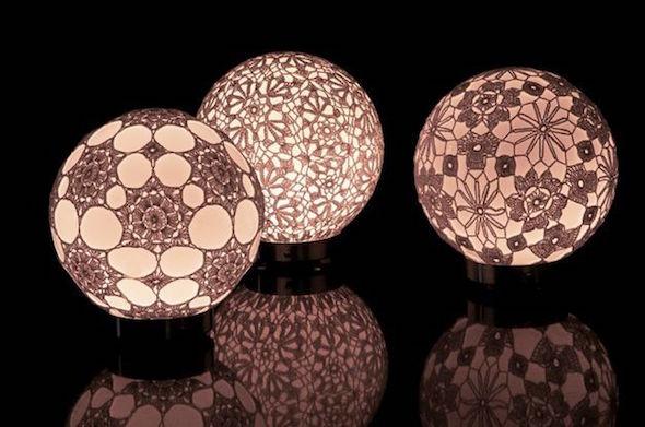 luminaria de croche