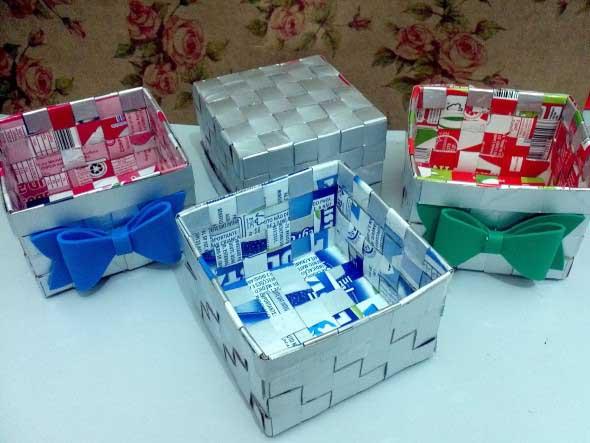 Artesanato com caixa de leite 006