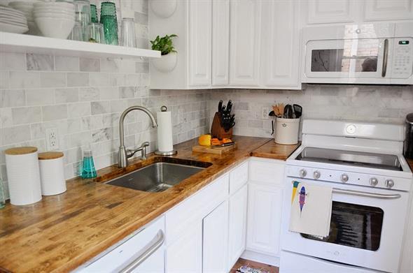 Balc o e bancada para cozinha pequena - Amueblar cocinas pequenas ...