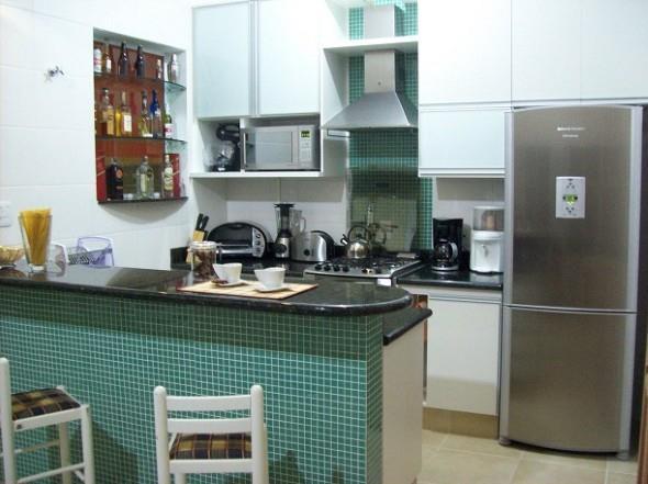 Balcão e bancada para cozinha pequena - photo#47