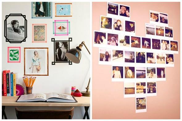 Diy como fazer um mural de fotos para decorar seu quarto - Decorar paredes reciclando ...