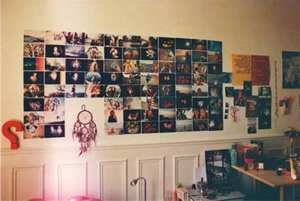 Diy como fazer um mural de fotos para decorar seu quarto - Mural de fotos ...