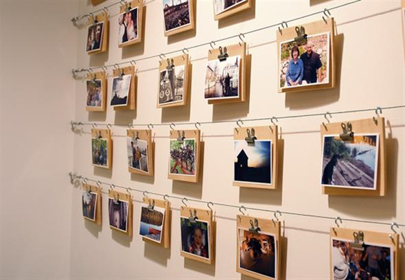 Mural De Fotos Para Sala De Estar ~ DIY – Como fazer um mural de fotos para decorar seu quarto