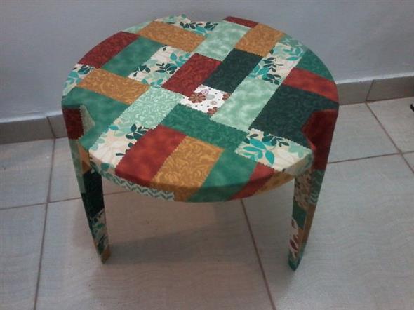 Forrar móveis com tecido 014