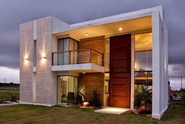 Fachadas de casas charmosas e requintadas for Fachadas duplex minimalistas