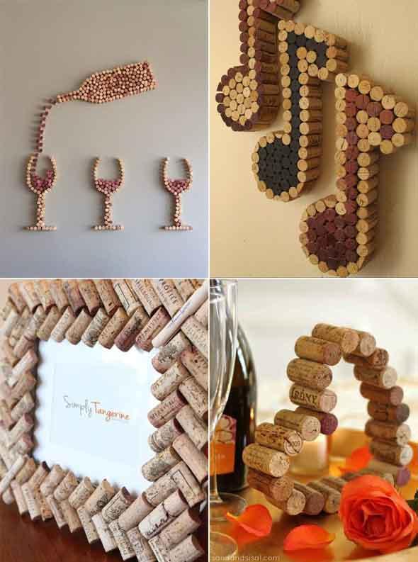 Idéias criativas de decoração com rolhas 017