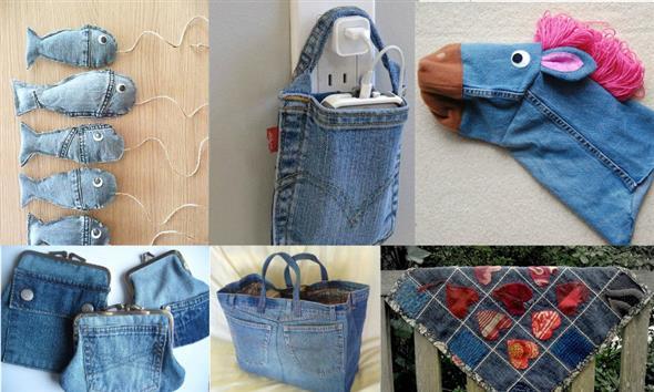 Ideias criativas para reaproveitar jeans usado 004