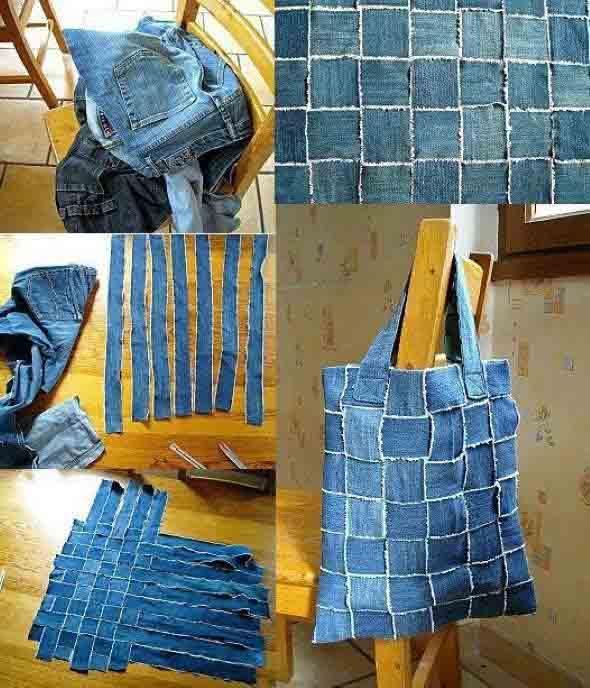Ideias criativas para reaproveitar jeans usado 008