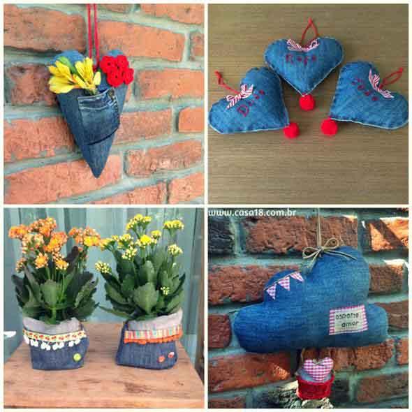 Ideias criativas para reaproveitar jeans usado 013