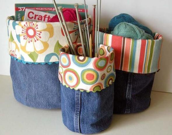 Ideias criativas para reaproveitar jeans usado 020