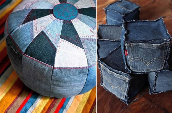 Ideias criativas para reaproveitar jeans usado 021