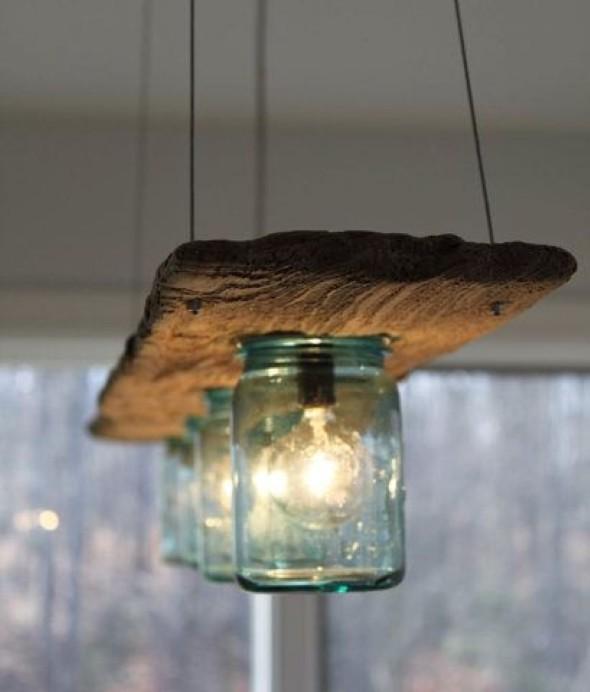 Luminária rústica artesanal 001