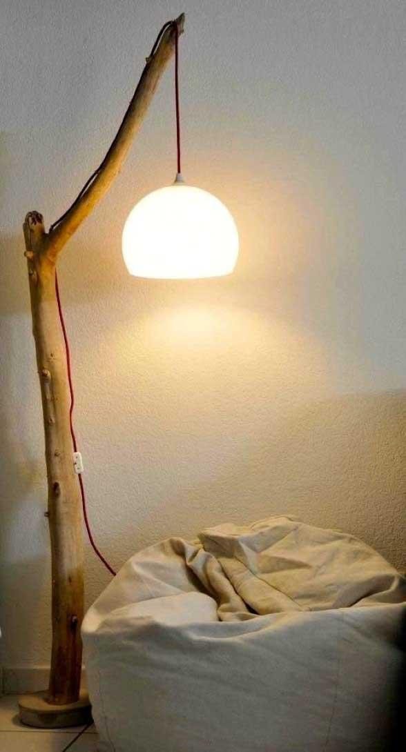 Luminária rústica artesanal 003