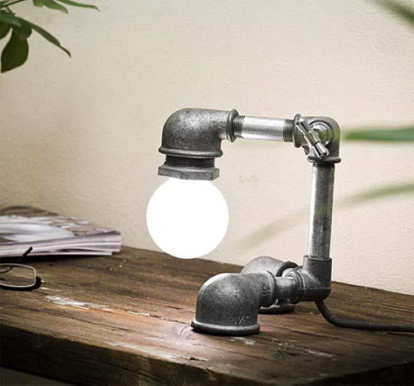 Luminária rústica artesanal 012