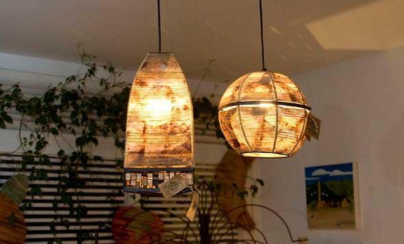 Luminária rústica artesanal 014