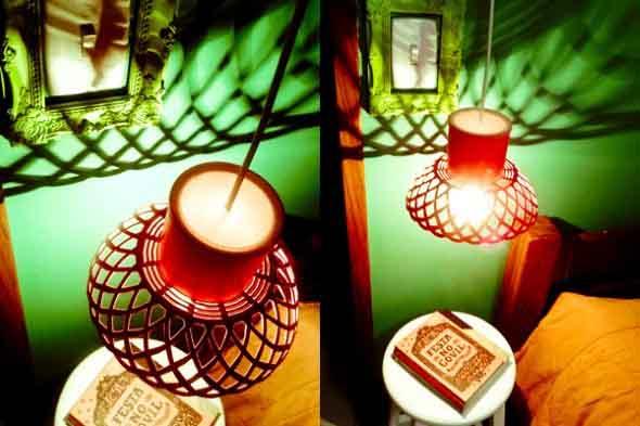 Luminária rústica artesanal 019