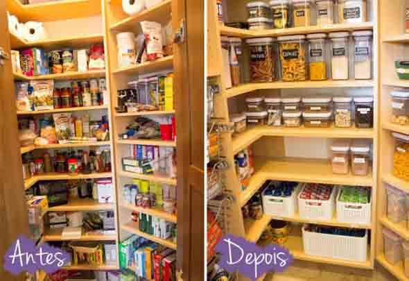 Depois de organizada, a despensa fica muito mais prática e fácil de utilizar no dia a dia.