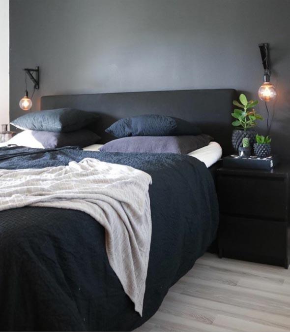 Luminária pendente para cabeceira da cama ~ Quarto Casal Luminaria Pendente