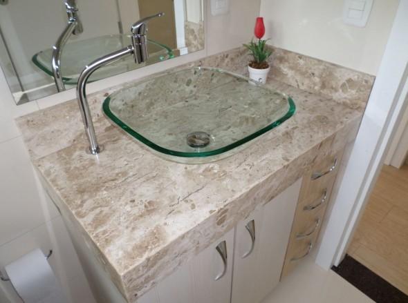 Tipos de cuba para banheiro -> Pia Banheiro Roca