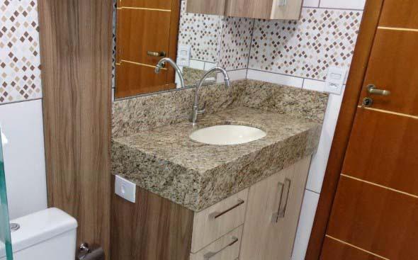 Tipos de cuba para banheiro -> Cuba Banheiro Marmore