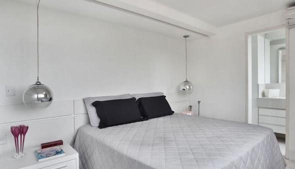 Luminária pendente para cabeceira da cama ~ Luminarias Em Quarto Pequeno