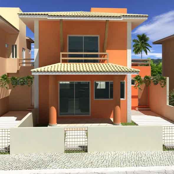 Fotos da fachada de casas pequenas e simples for Modelos jardines para casas pequenas