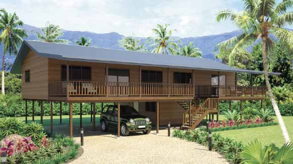 Casa de madeira charmosa e funcional 005