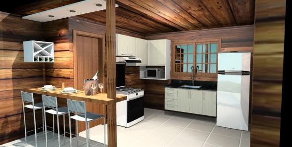Casa de madeira charmosa e funcional 009