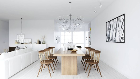 Casa decorada em estilo escandinavo 008