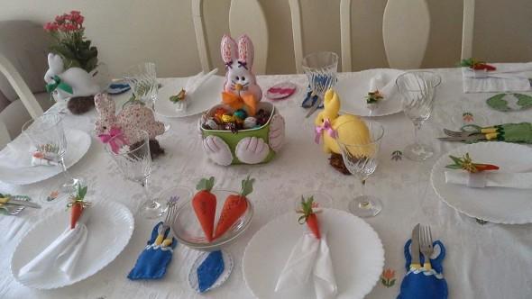 Decoração para almoço de Páscoa 004