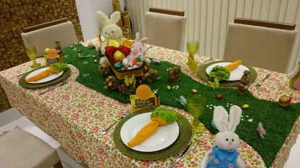 Decoração para almoço de Páscoa 013