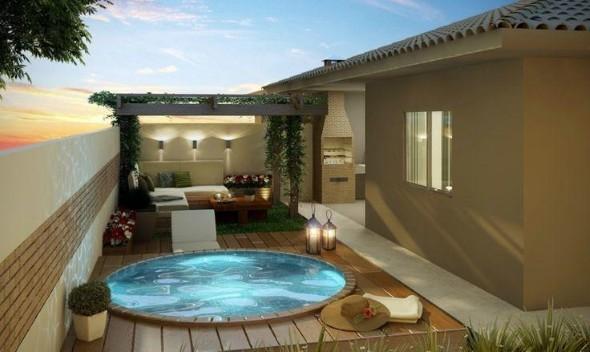 Projeto piscina para quintal pequeno for Modelos de departamentos pequenos para construir