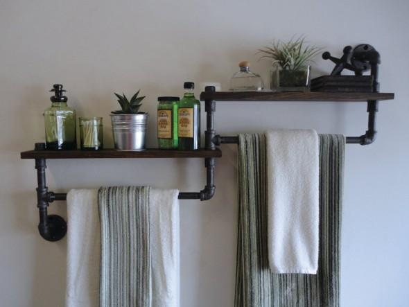 Decore a casa com canos de metal 020