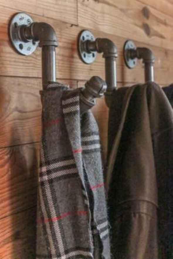 Decore a casa com canos de metal 022