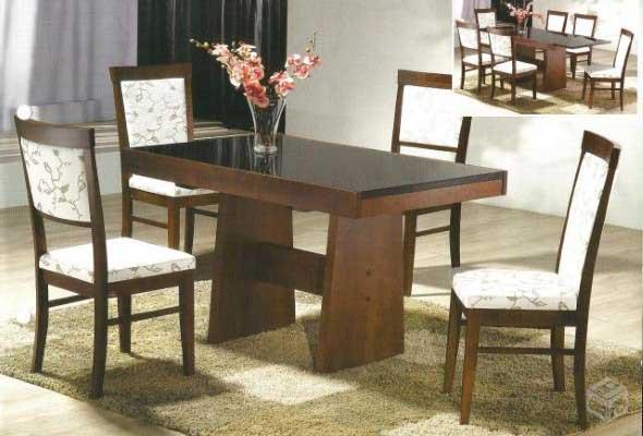 Mesas de jantar extensíveis 002