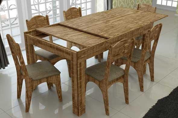 Mesas de jantar extensíveis 004