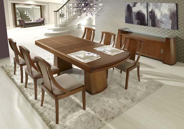Mesas de jantar extensíveis 008