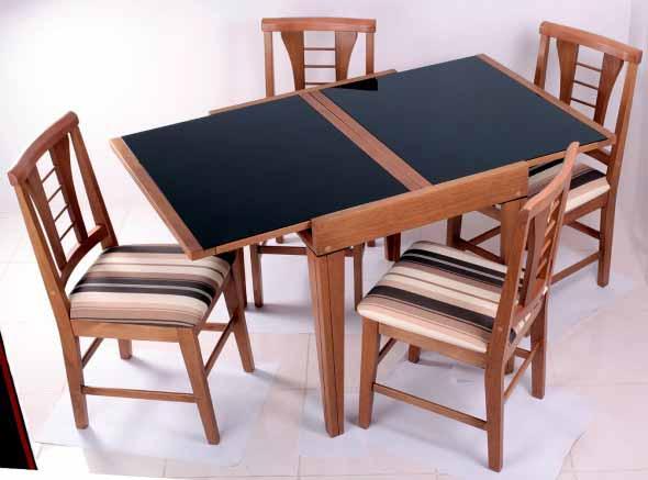Mesas de jantar extensíveis 011
