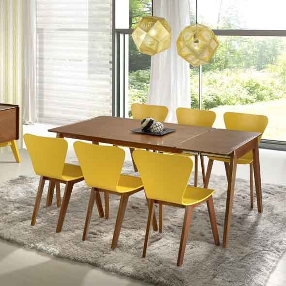 Mesas de jantar extensíveis 012