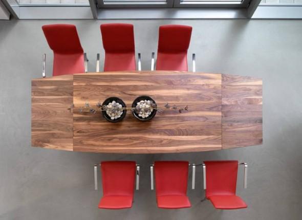 Mesas de jantar extensíveis 017