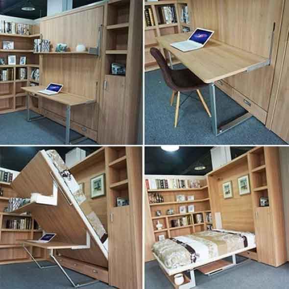 Modelos de cama escondida para casas e apartamentos 004