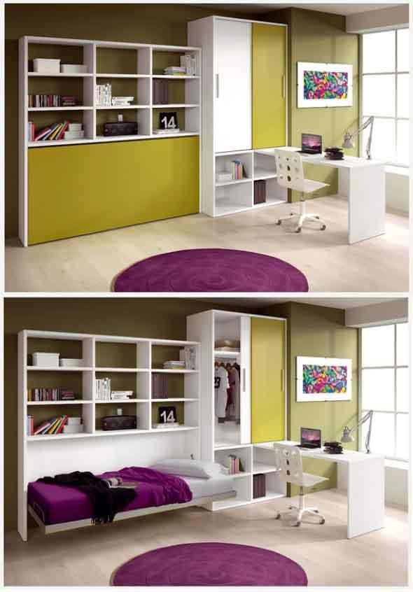 Modelos de cama escondida para casas e apartamentos 007