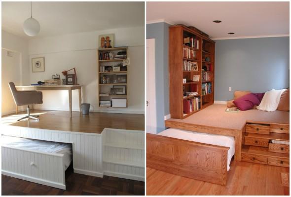 Modelos de cama escondida para casas e apartamentos 15 (Custom)