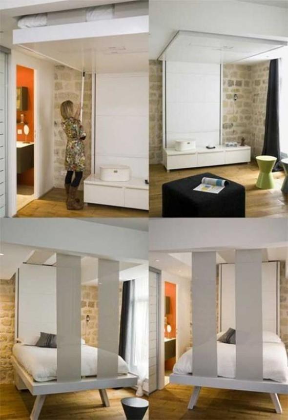 Modelos de cama escondida para casas e apartamentos 17 (Custom)