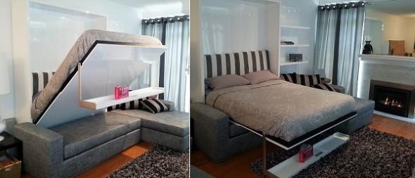 Modelos de cama escondida para casas e apartamentos 18 (Custom)